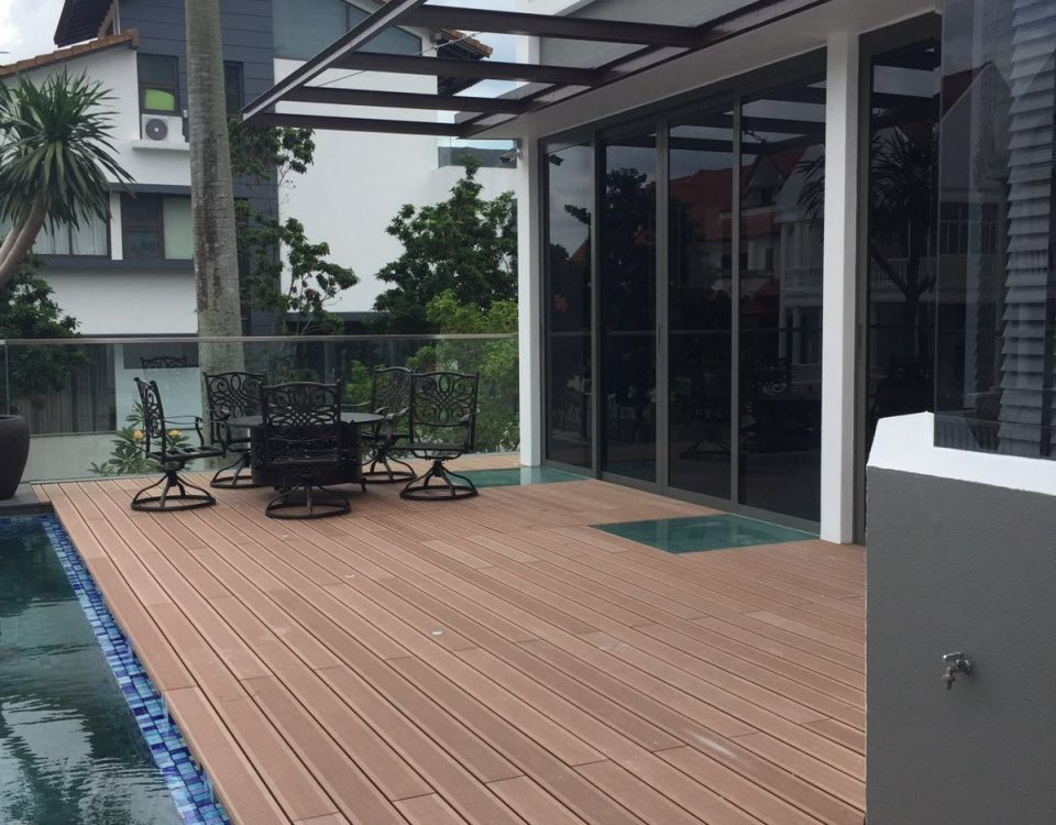 eco wood composite decking at boscombe road