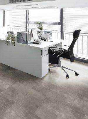 Concrete Dark Grey Room Motif EPRF Vinyl Flooring