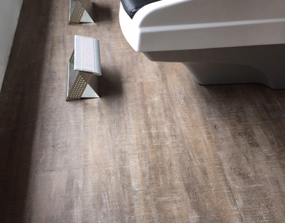 eco resilient flooring hair salon